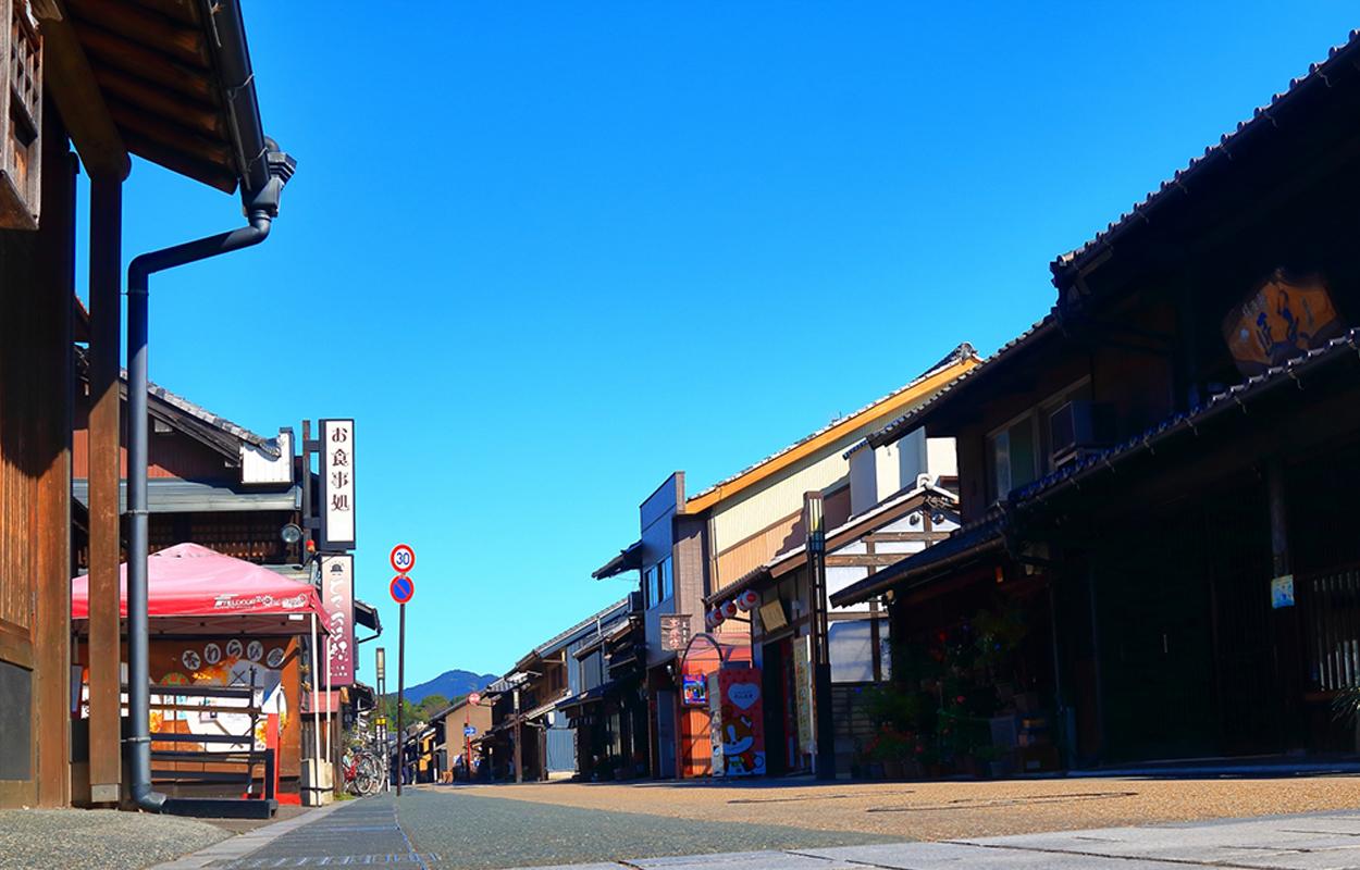 犬山城の城下町の風景
