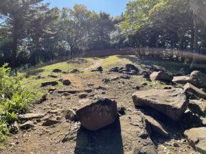 石垣山一夜城の西曲輪