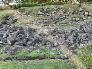 石垣山一夜城の本城曲輪の石垣