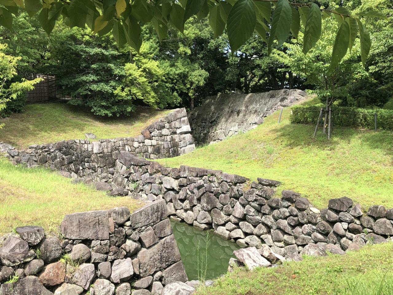 駿府城の二の丸水路