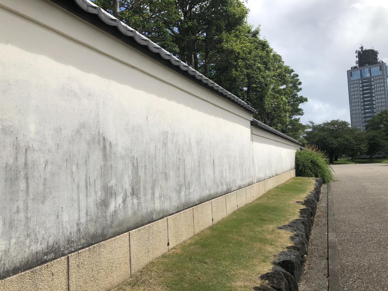 駿府城公園の通り道